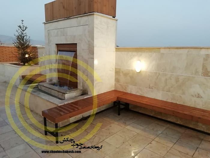 آبنمایی جذاب و خاص بر روی بام و ایجاد یک بام سبز زیبا