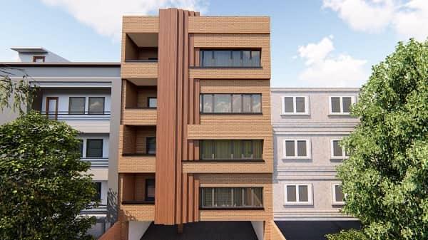 طراحی نمای ساختمان با استفاده از نرم افزار و استفاده از ترموود در نما