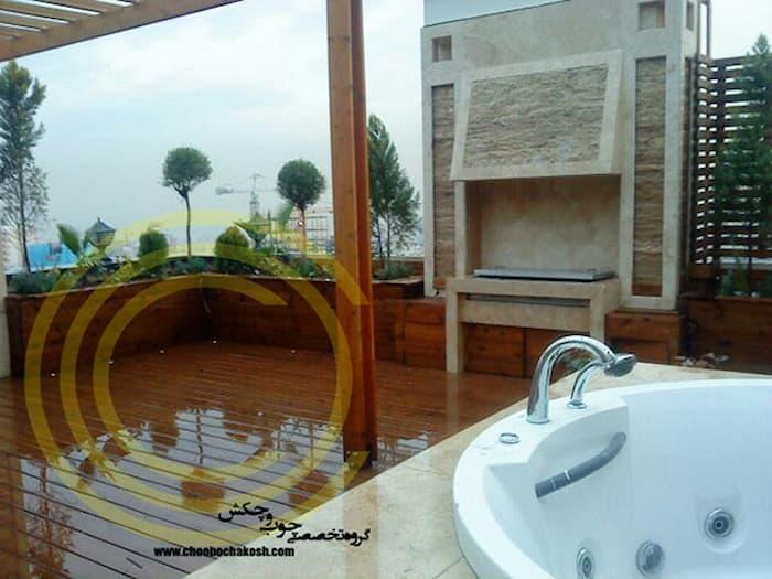 طراحی و ایجاد جکوی بر روی بام سبز