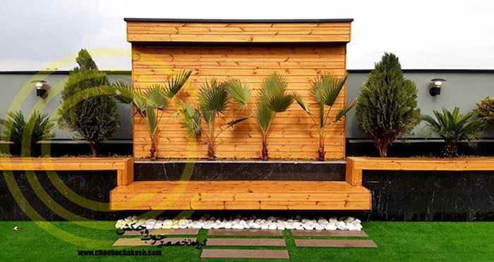 نیمکت سبز مخصوص روف گاردن توسط شرکت چوب و چکش